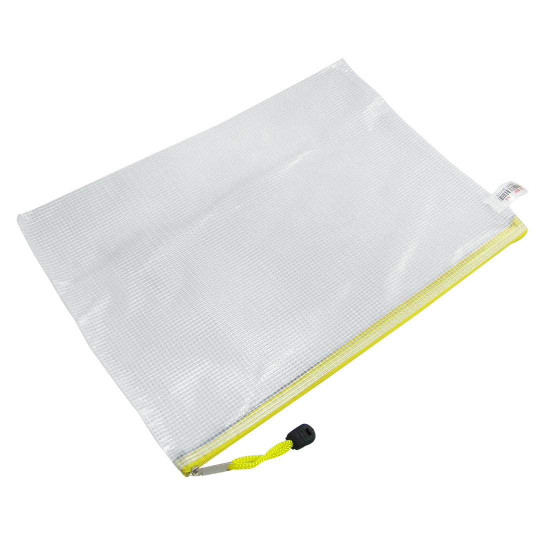 12 Pcs A4 Paper Gridding Zipper Closure Files Document Bags Yellow