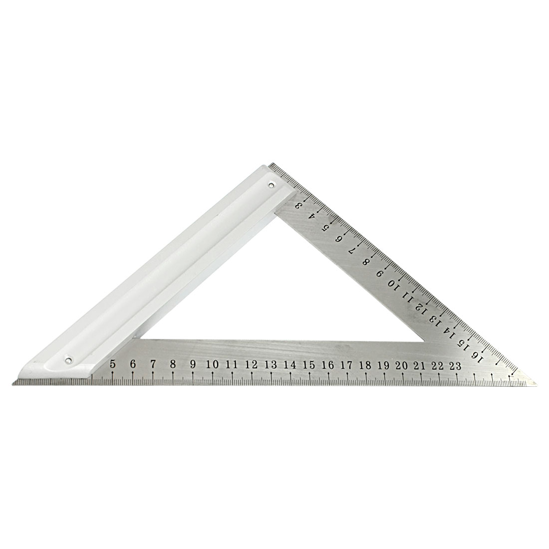 Double Side Scale Stainless Steel 180mm 270mm Metric Triangle Ruler