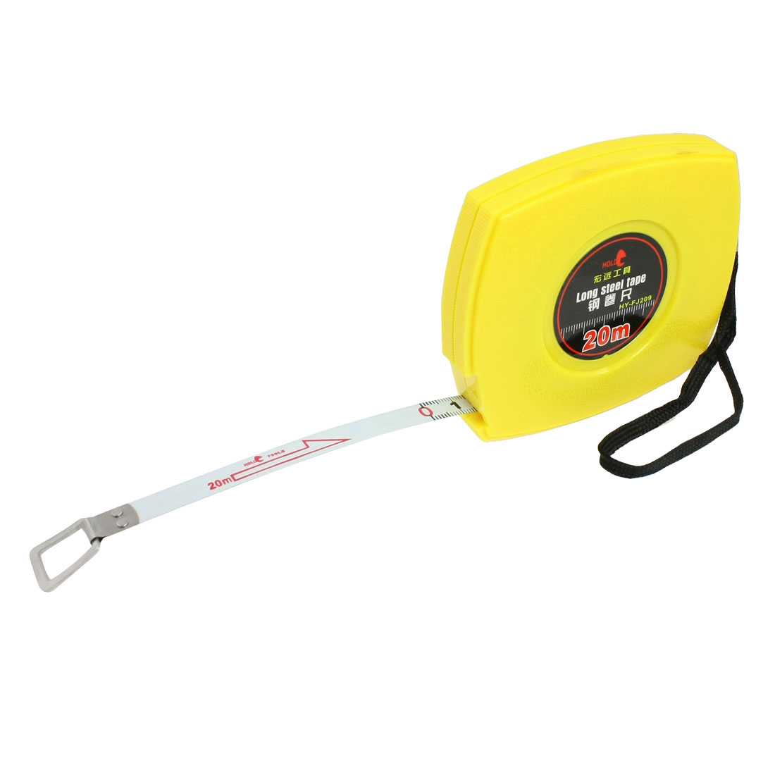20M x 10mm Yellow Shell Metric Retractable White Steel Tape Measure w Hand Strap