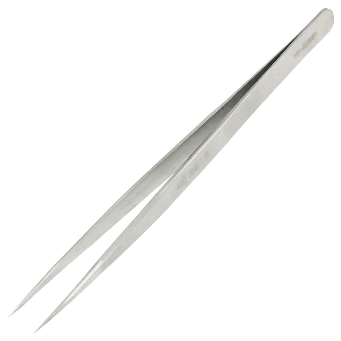 "5.4"" Long Silver Tone Stainless Steel Extra Fine Pointed Tweezers"