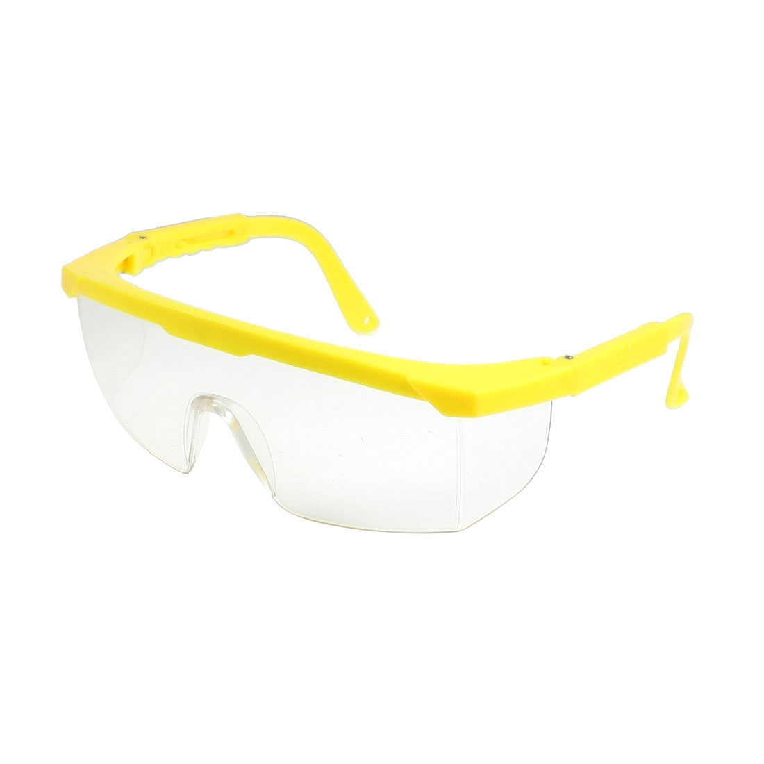 Clear Uni Lens Retractable Arms Safety Goggles for Men Women