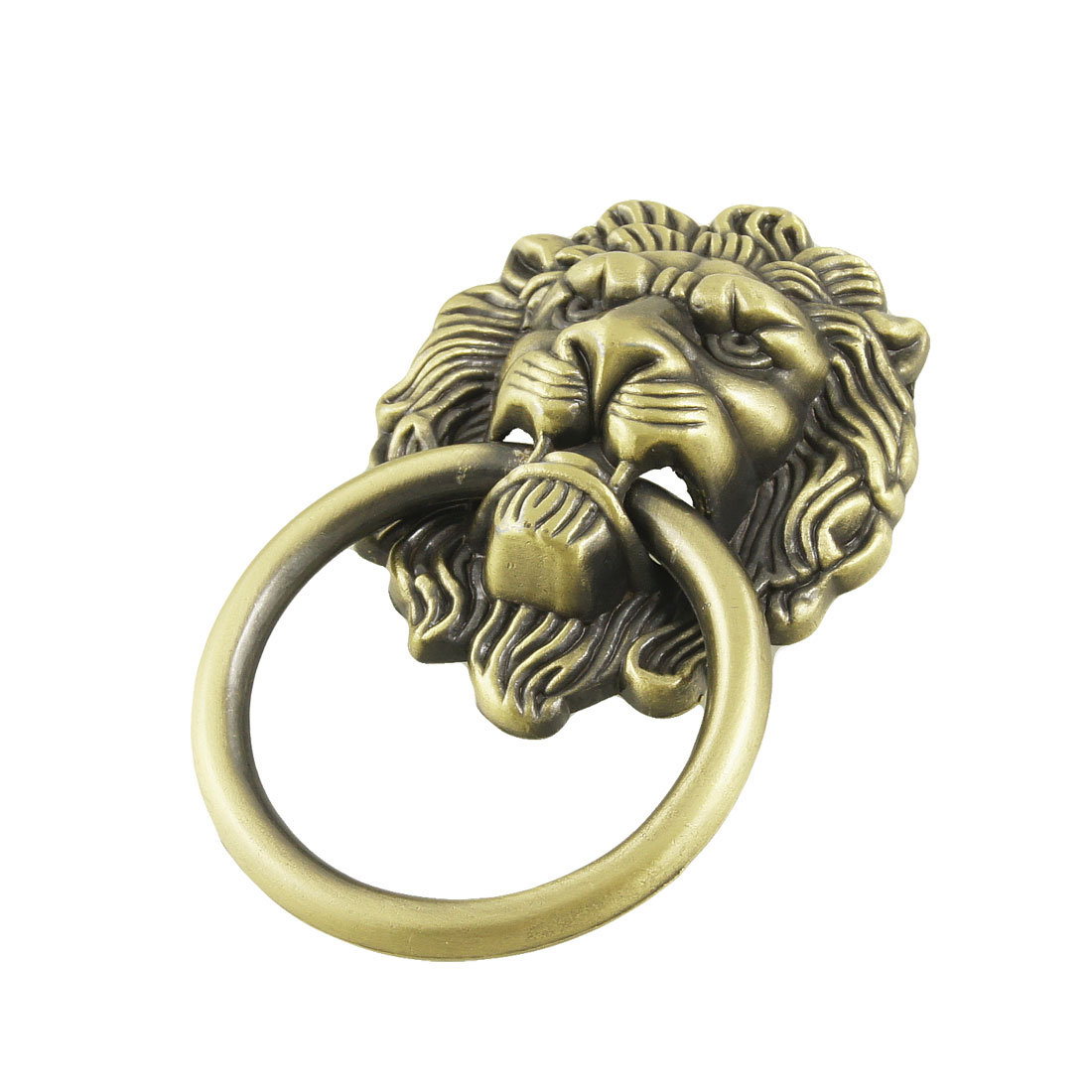 Antique Style Bronze Lion Head Design Drawer Ring Pull Handle Knob