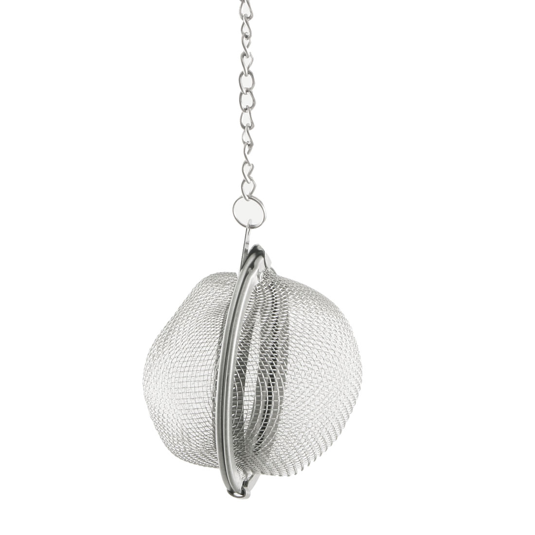"Reusable Stainless Steel Mesh Ball Loose Tea Strainer Infuser 2"" w Chain"