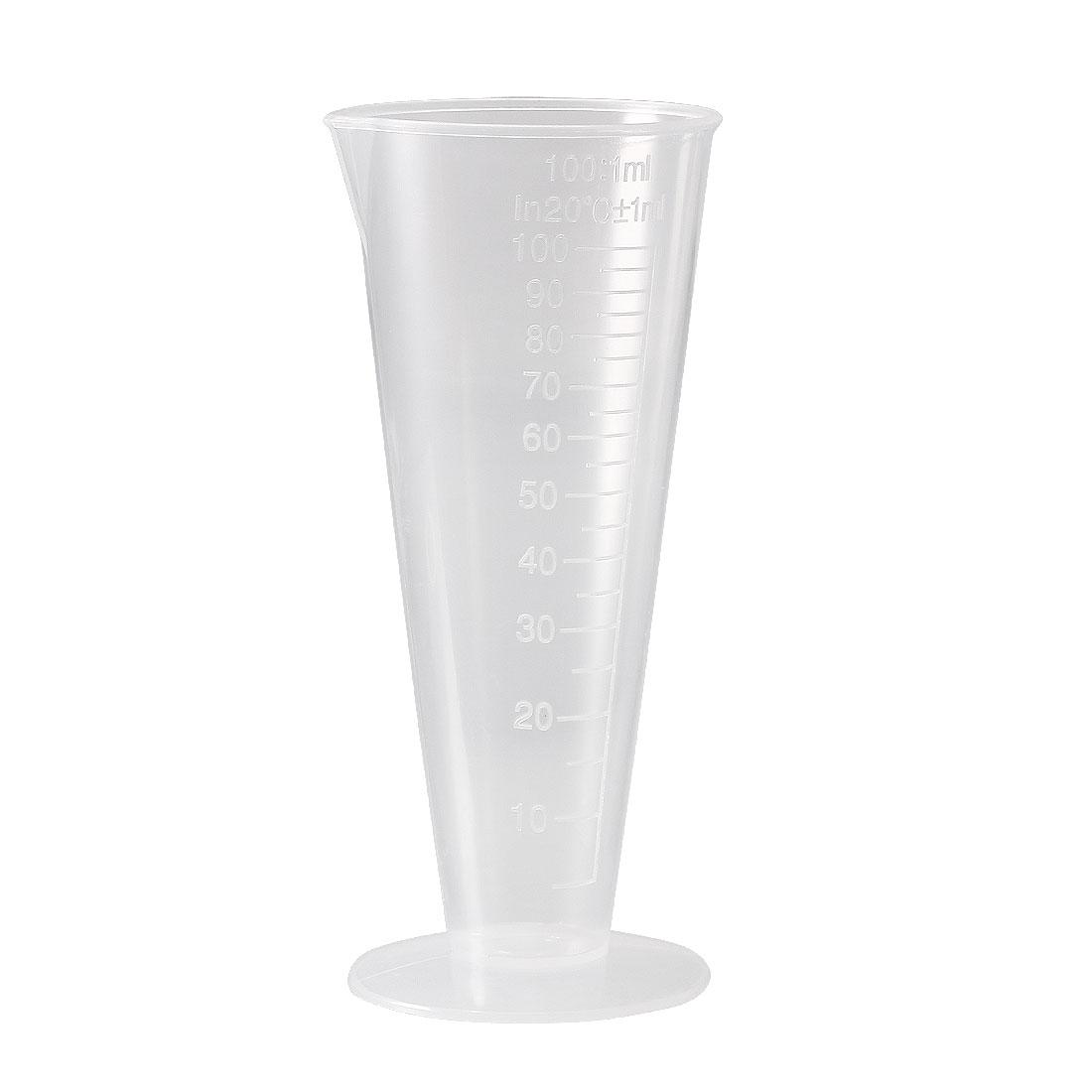 Kitchen Laboratory Plastic Measurement Beaker Measuring Cup 100ml