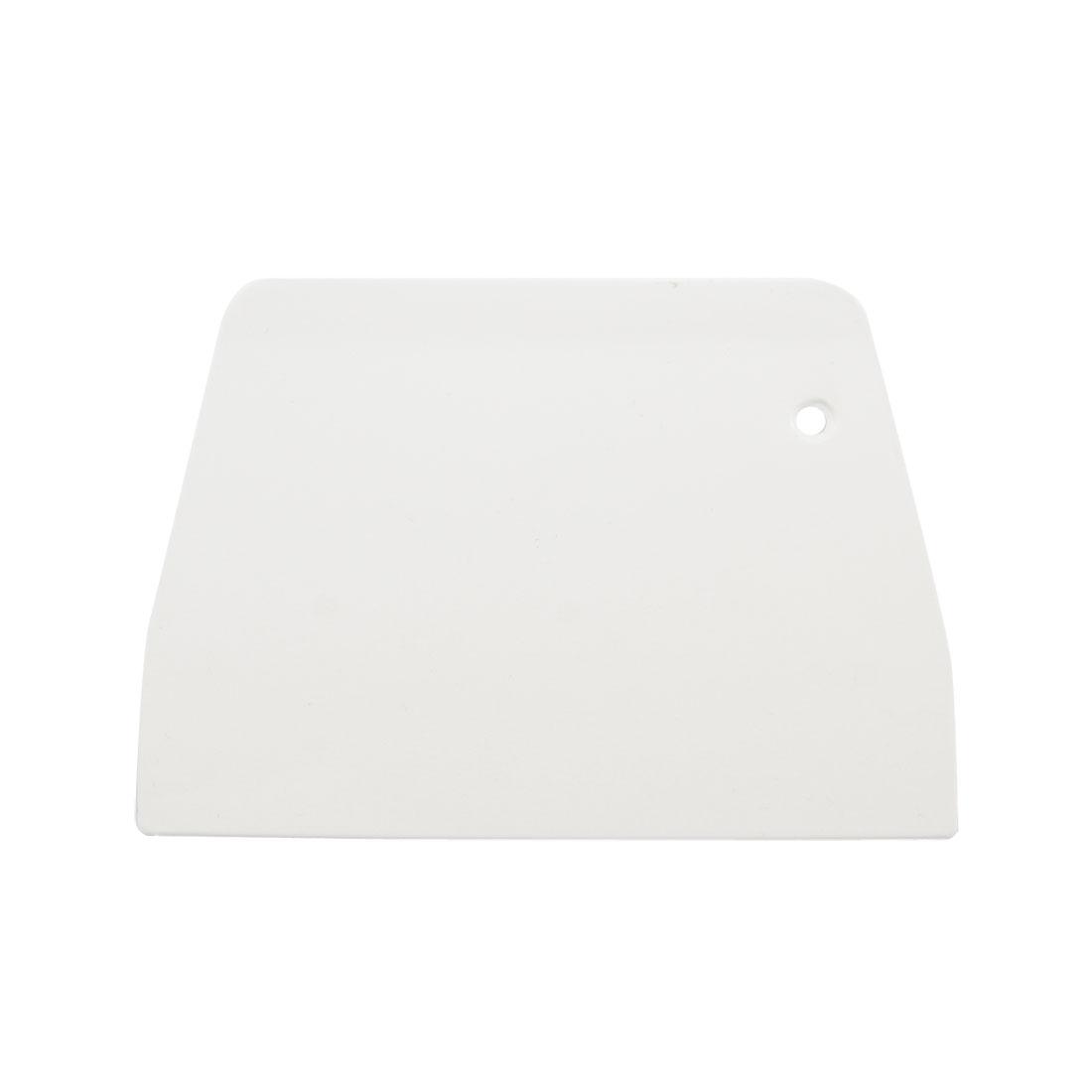 Plastic Trapezoidal Cake Decoration Butter Scraper Cutter 13.3 x 9.5 x 0.3cm
