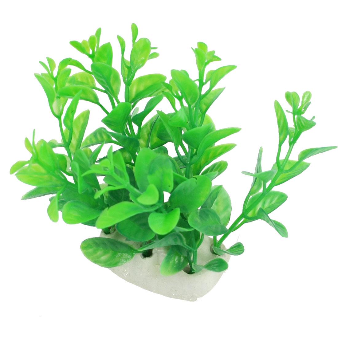 """Aquarium Fish Tank Plastic Aquatic Grass Plant Green 3.9"""""""