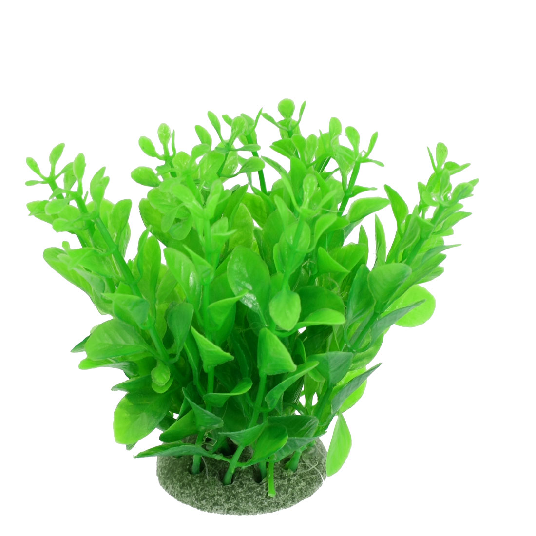 Aquarium Fish Tank Green Plastic Artificial Grass Plant 4.3""