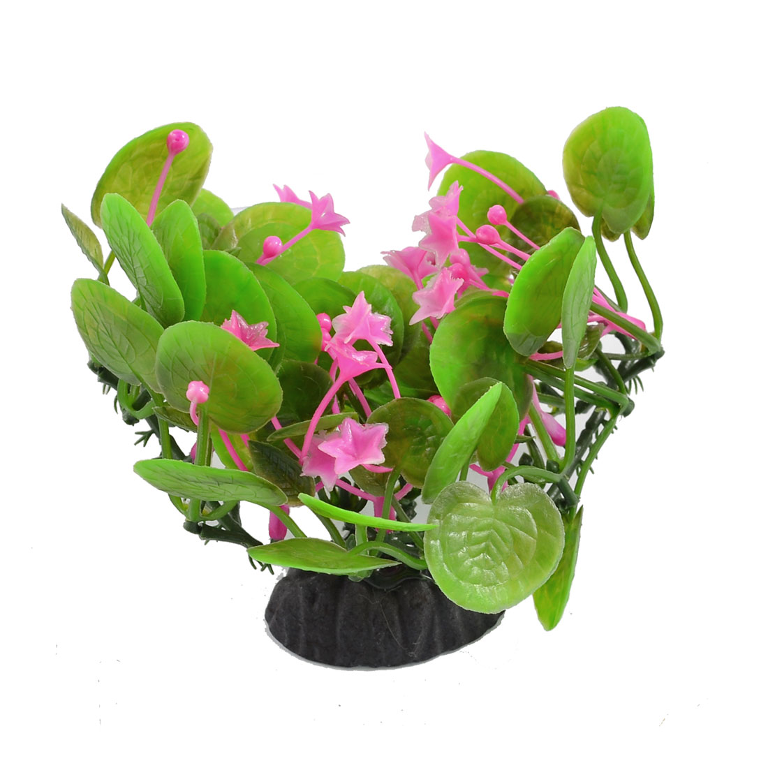 "Fuchsia Green 3.9"" Plastic Plants Decor Aquarium Tank Aquascape"
