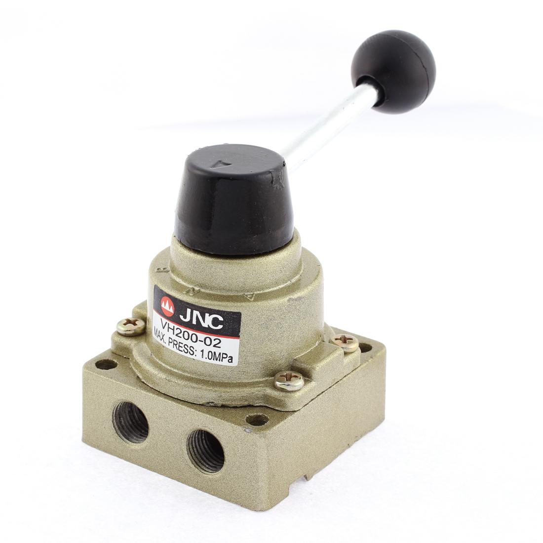 Pneumatic Air Flow Control Hand Lever Valve 1.0MPa 1/4 PT VH200-02