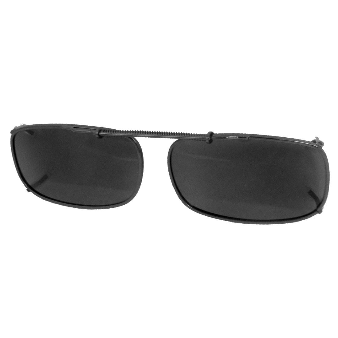 Unisex Gray Lens Full Frame Traveling Clip On Polarized Eyewear Sunglasses