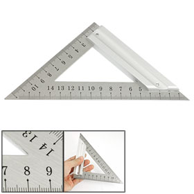 120mm 170mm Stainless Steel Metric Triangle Ruler Square