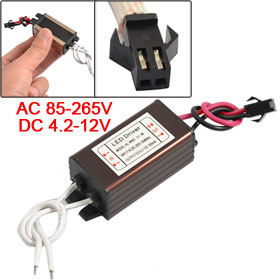 AC 110-220V DC 4.2-12V 300mA Power Supply Driver for 3x1W LED Strip Light