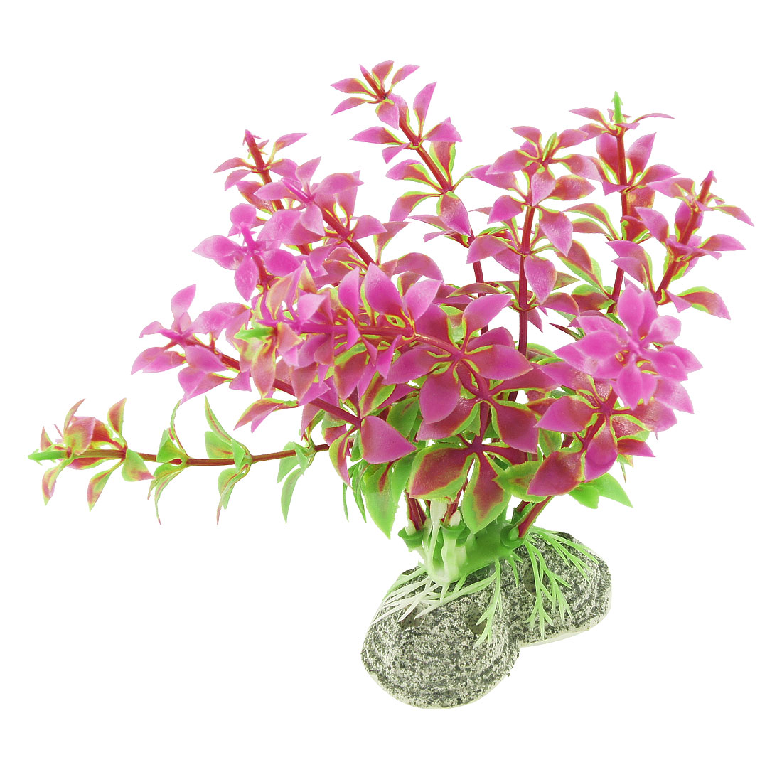 "Fish Tank Aquatic Water Plant Grass Fuchsia Green 4.3"" Height"