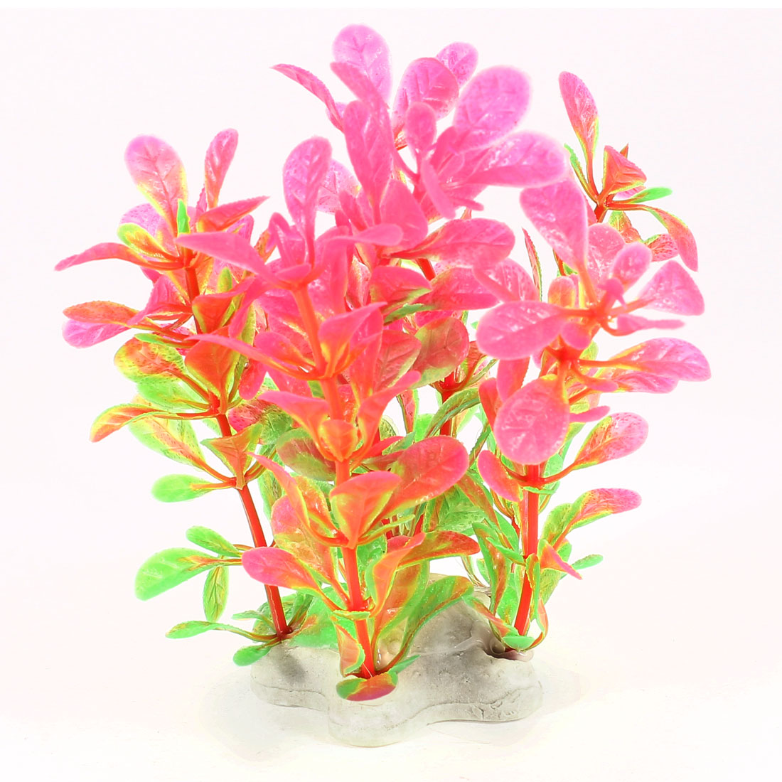 "Aquarium 4"" Artificial Water Plant Grass Ornament Purple Green"
