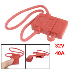 BH708 Car Boat Truck Blade Fuse Holder Base with 16 AWG Wire Red