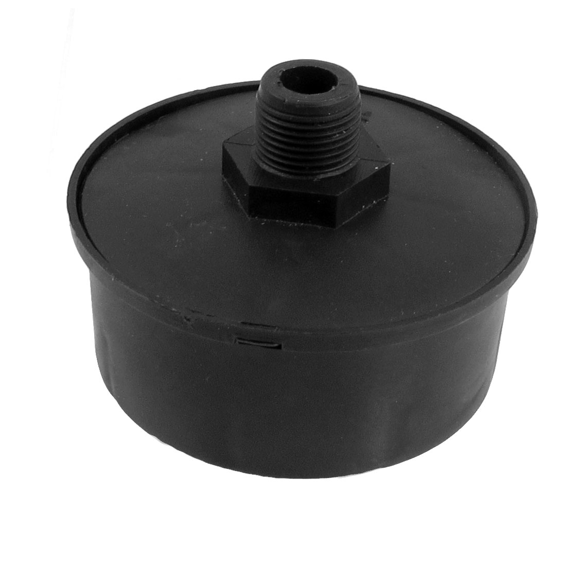Air Compressor Black Plastic 16mm Thread Filter Muffler