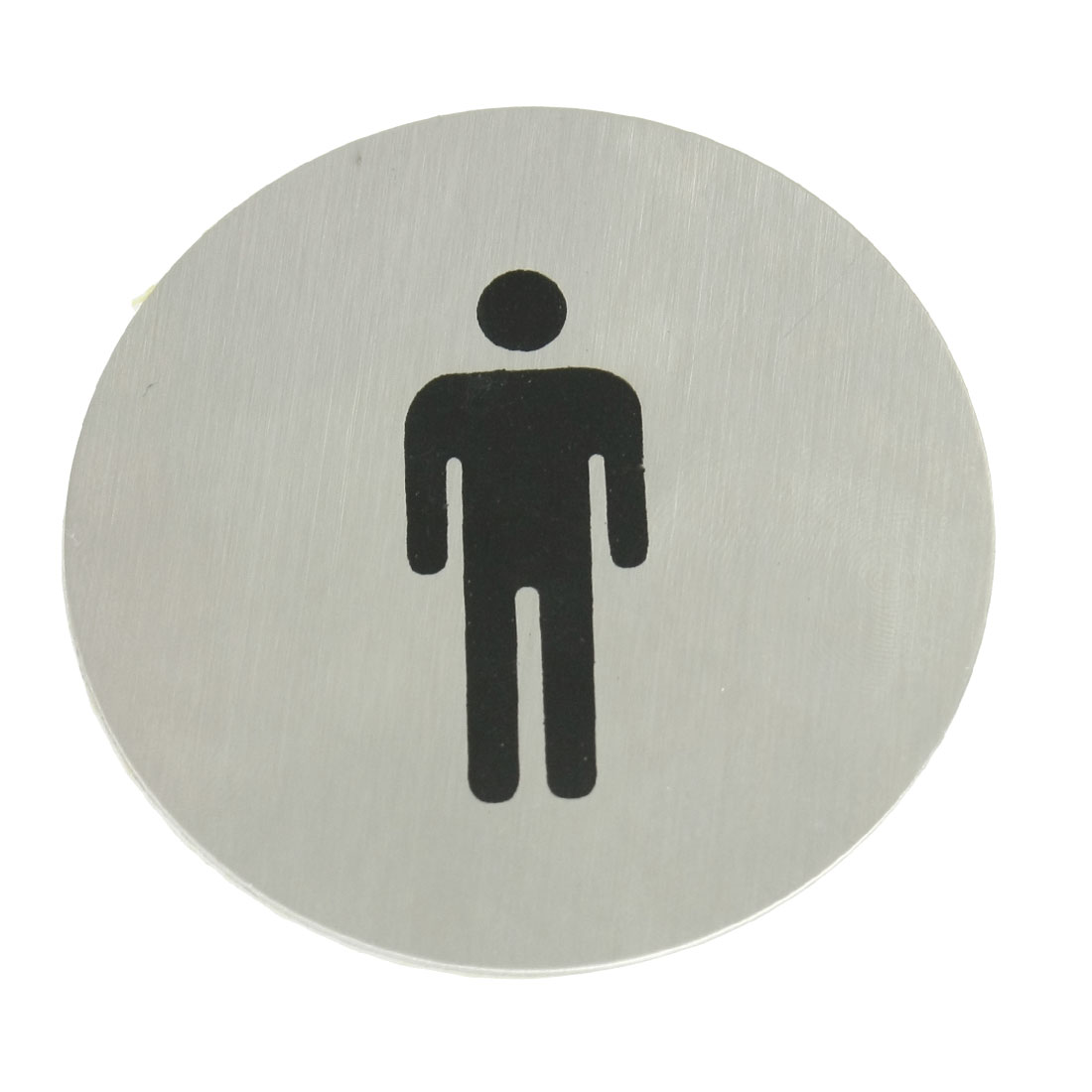 Black People Shape Print Stainless Steel Round Toilet Men Caution Signs