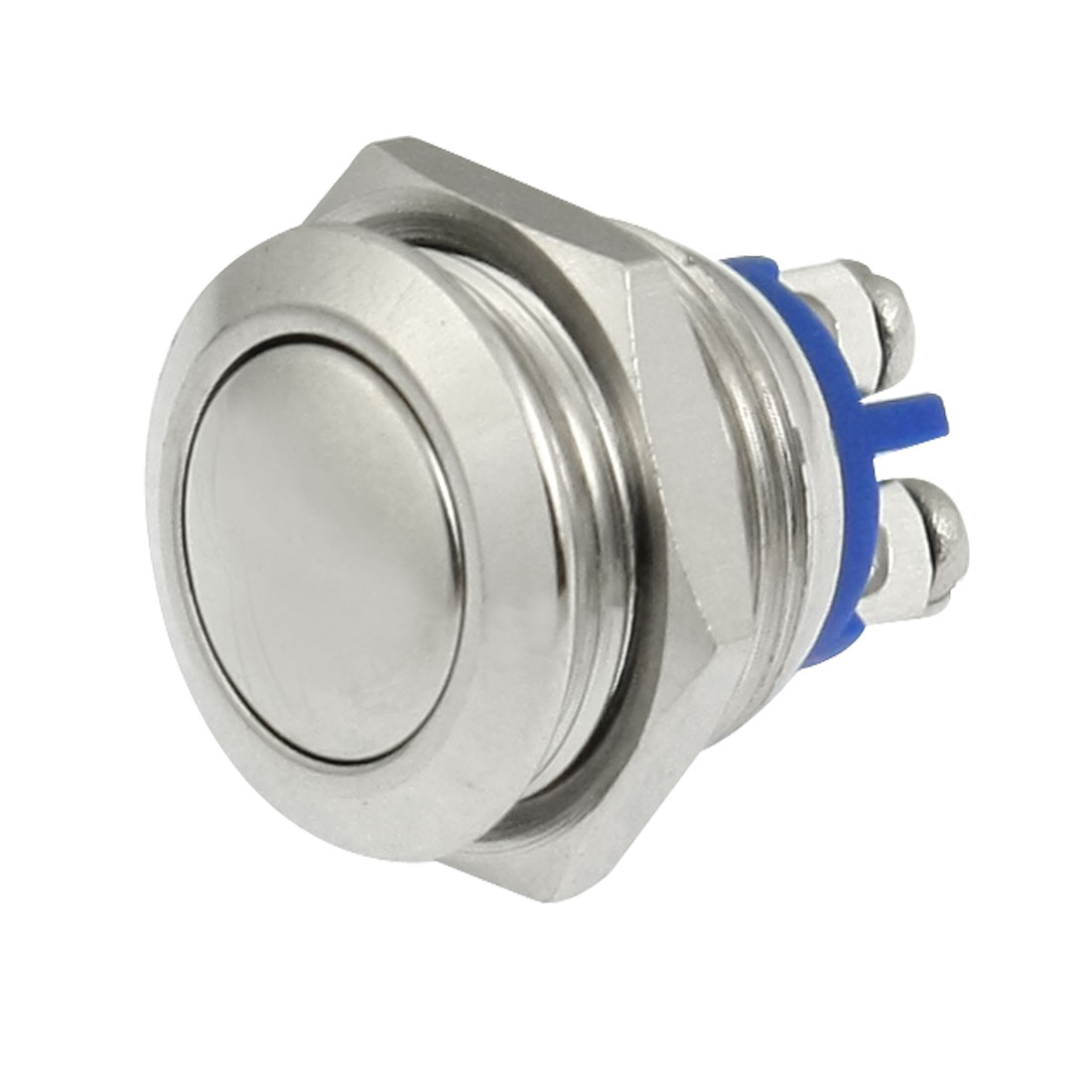 OFF-(ON) N/O NO 16mm Metal Round Mometary Dome Push Button Switch 3A 250V AC