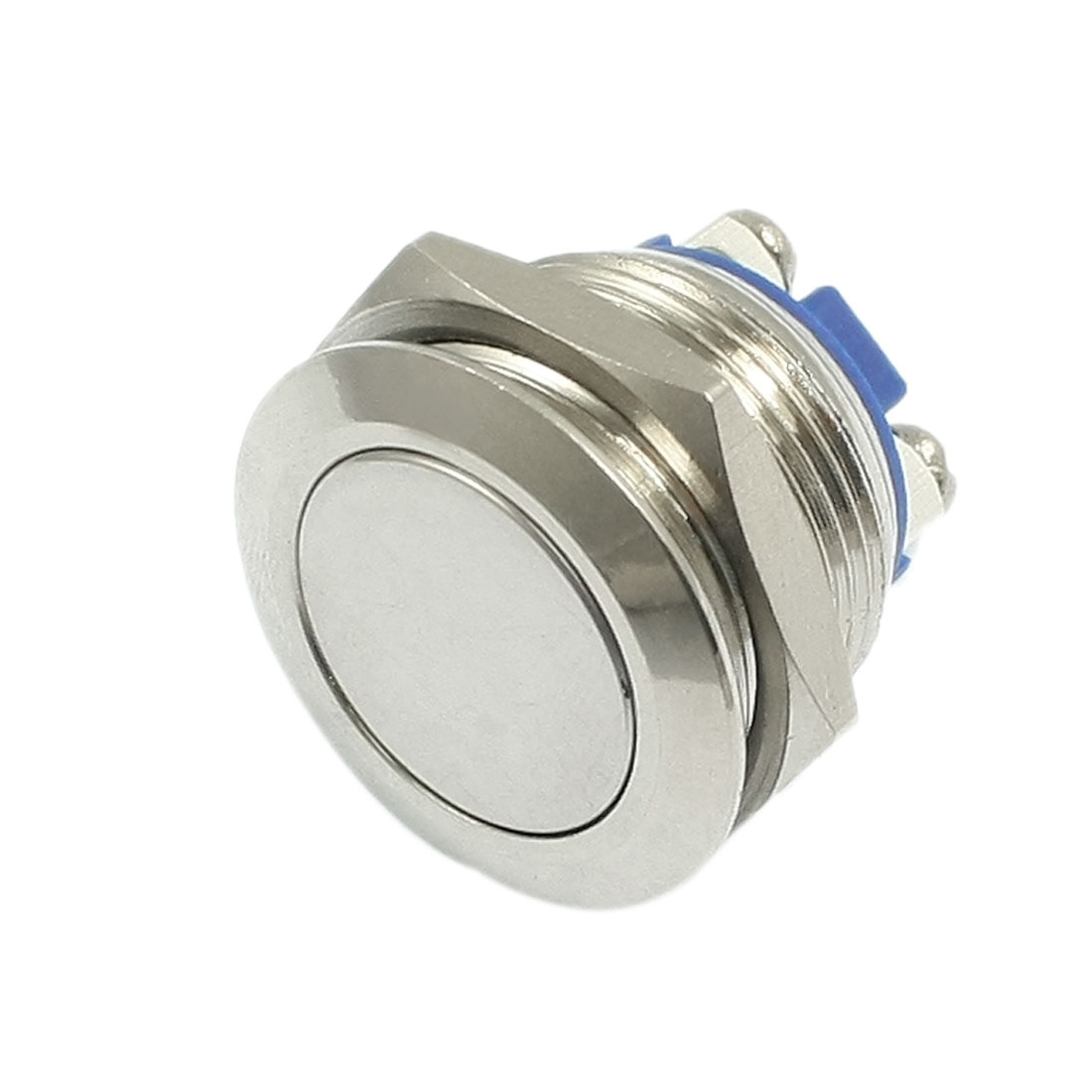 OFF-(ON) NO N/O 19mm Hole Flush Mount Metal Round Momentary Push Button Switch