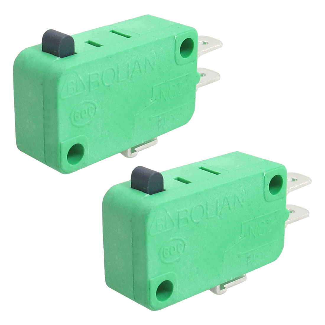Push Button Actuator Basic NO NC Momentary Micro Switch 2 Pcs