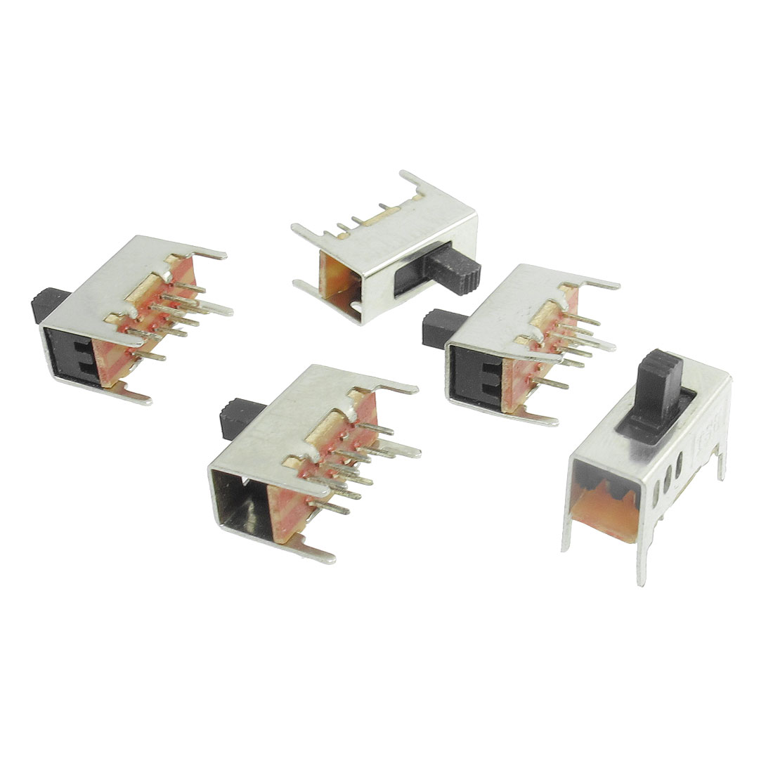 5 Pcs 8 Pins 3 Positions 3P2T On/On/On Mini Slide Switch