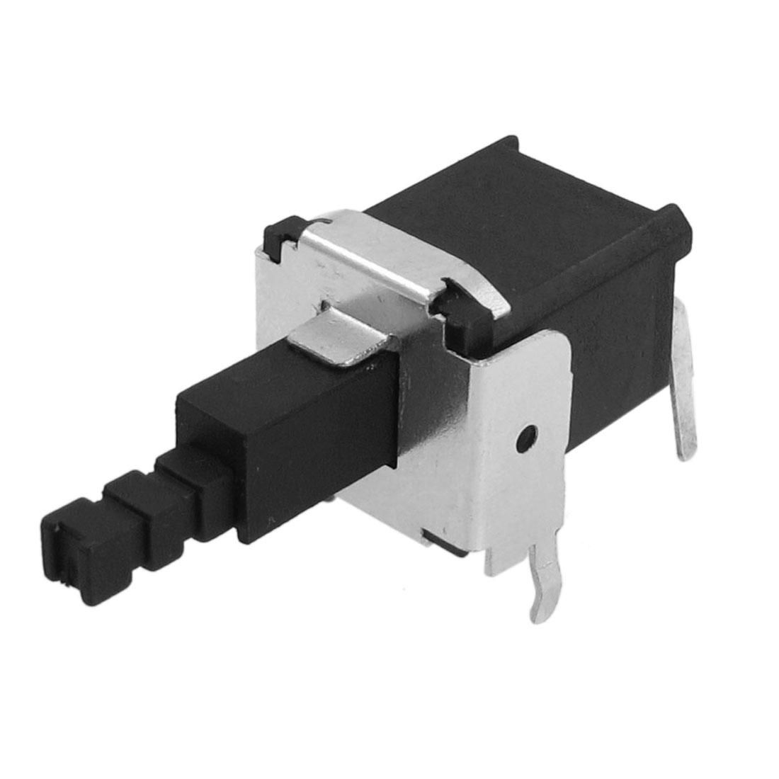 17x12x11mm 2 Terminal DIP Through Hole Self-locking Push Button Tactile Tact Switch