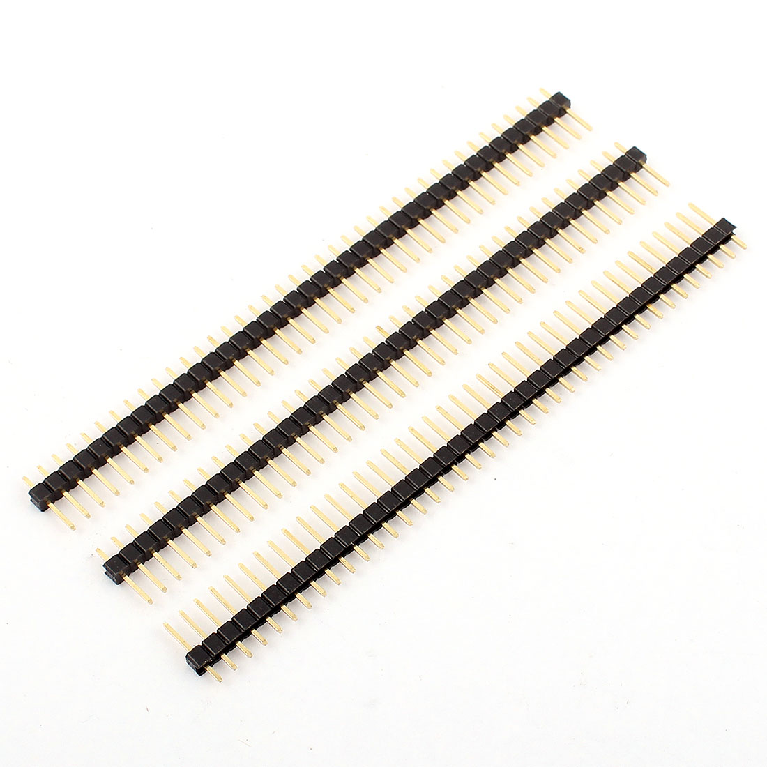 3 Pcs 1x40 Pin 2.54mm Pitch Single Row Pin Header Strip