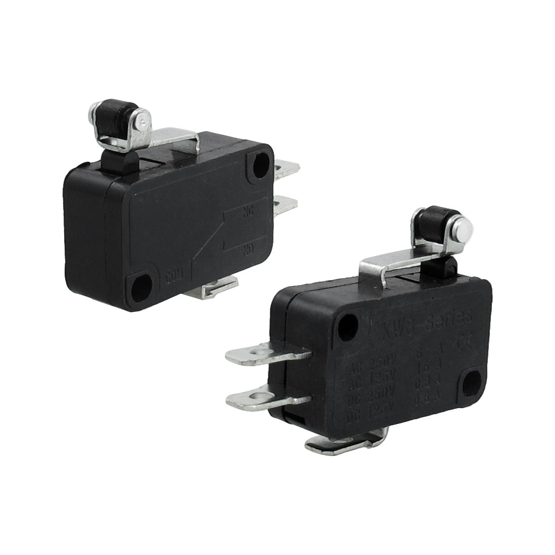 Roller Hinge Lever 3 Pins Basic NO NC Momentary Micro Switch 2 Pcs