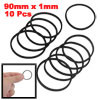 "10 Pcs 3.5"" Inner Girth Black Stretchy Rubber Belt for Miniature Motor"
