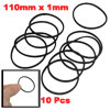 10 Pcs 110mm Inner Girth Black Stretchy Rubber Belt for Miniature Motor