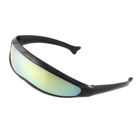 Kids Black Full Rim Uni-Lens Plastic Sports Sunglasses Eyewear