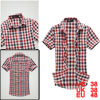 Mens Casual Red Black Stylish Single Breasted Summer NEW Shirt Tops M