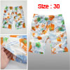 Mens White Orange Drawstring Elastic Waist Summer Beach Shorts W30