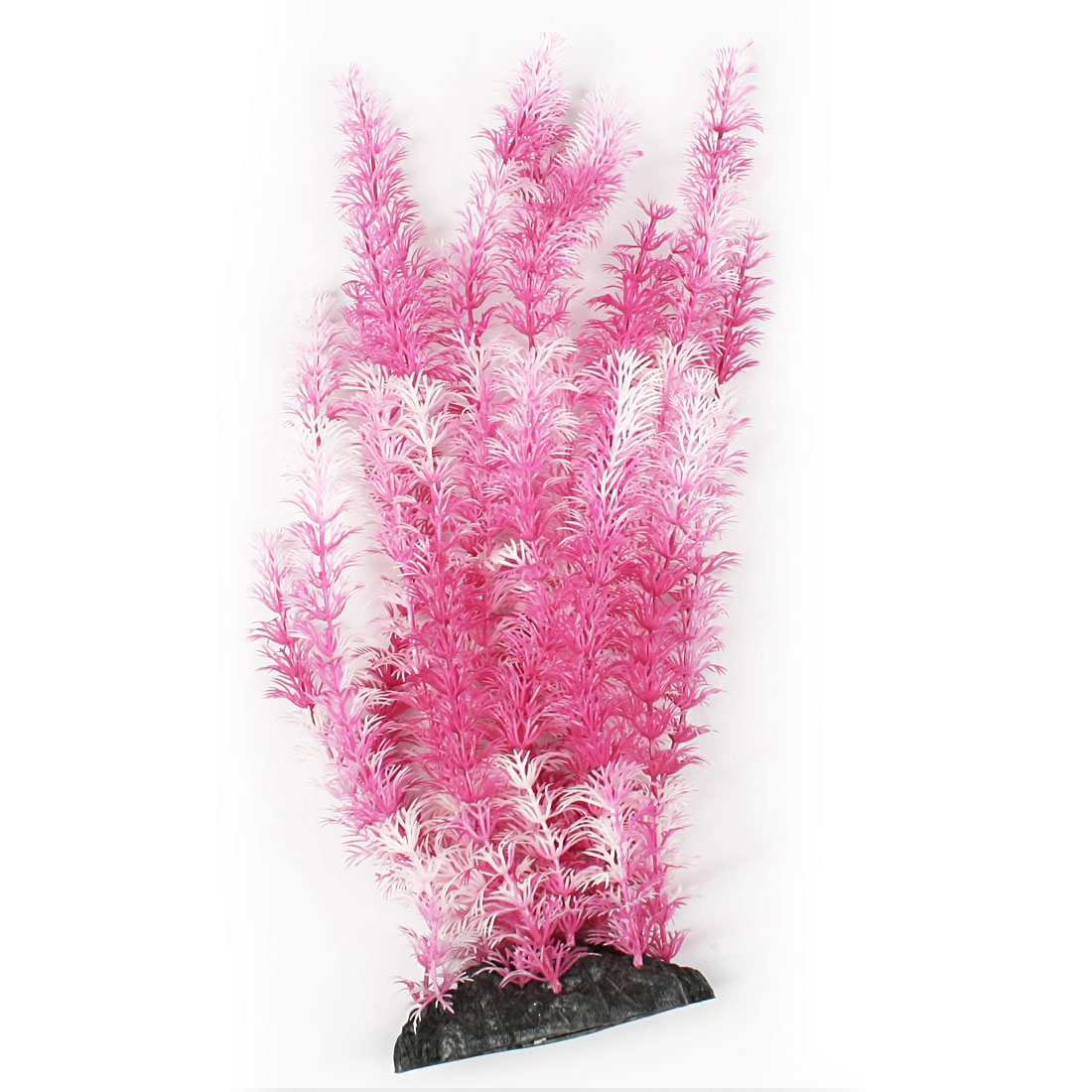 "16.9"" High Emulational Rosy Red White Grasses Plant for Fish Tank Ornament"