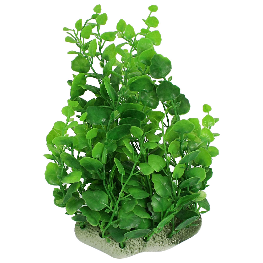 23cm Hight Aquarium Tank Green Artificial Plastic Water Leaf Plant Adorn