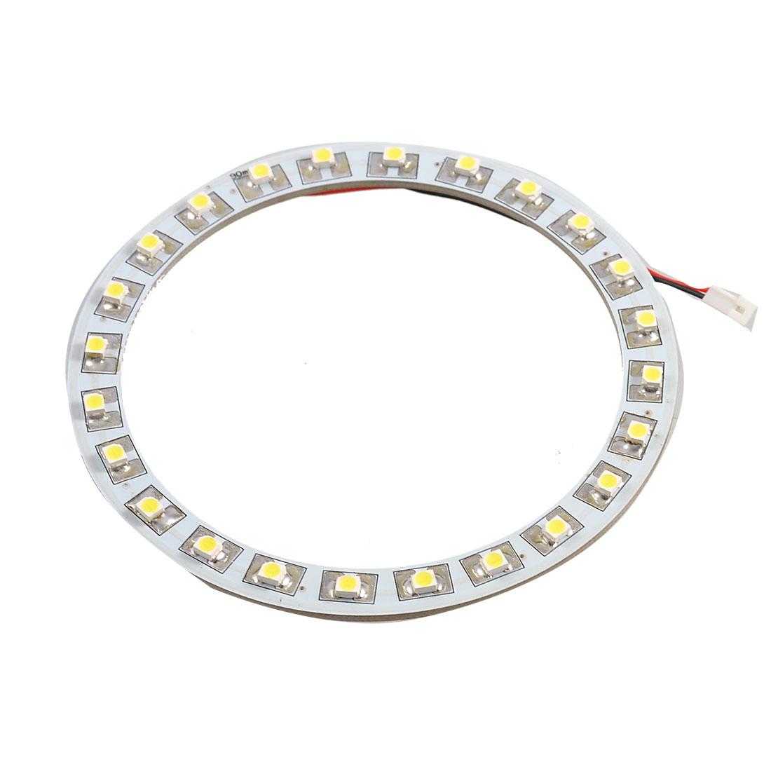 90mm White 24 SMD LEDs Car Angel Eyes Ring Headlight Light Lamp