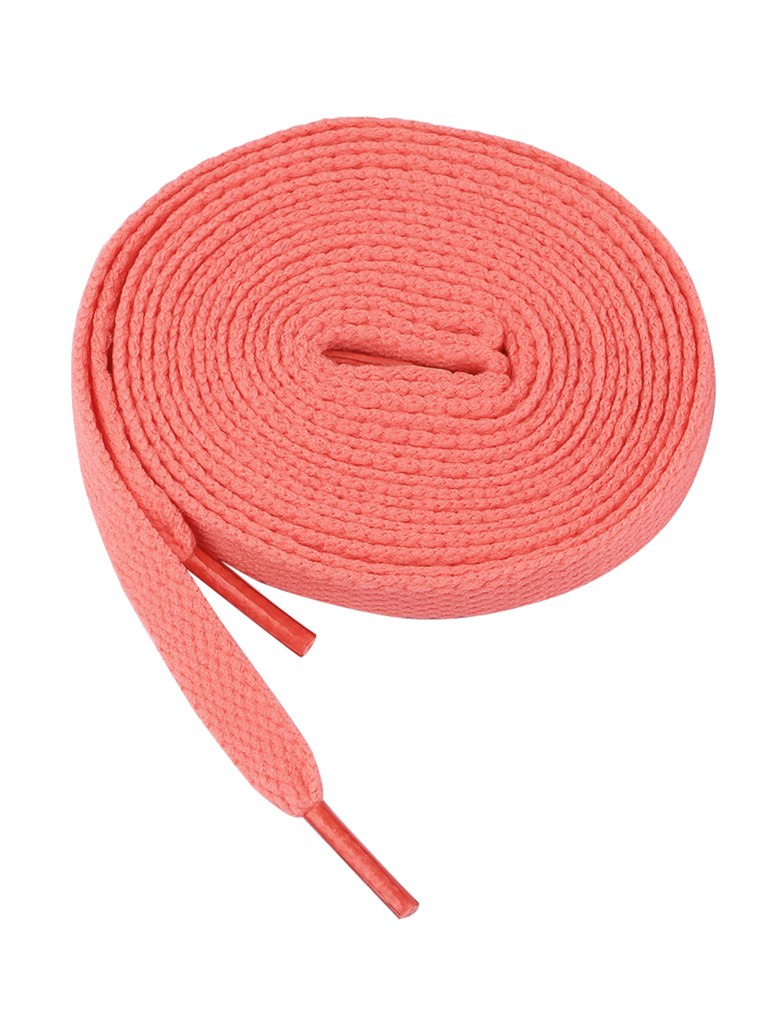 "Woman Pair 46.9"" Length Flat Shoes String Shoelaces Peach Pink"