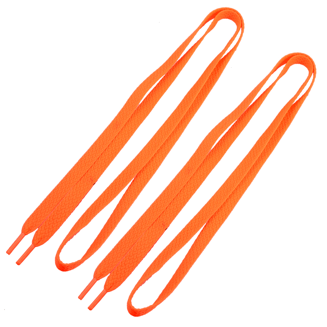 "Pair 46.9"" Length Flat Sports Shoes String Shoelaces Orange for Lady"