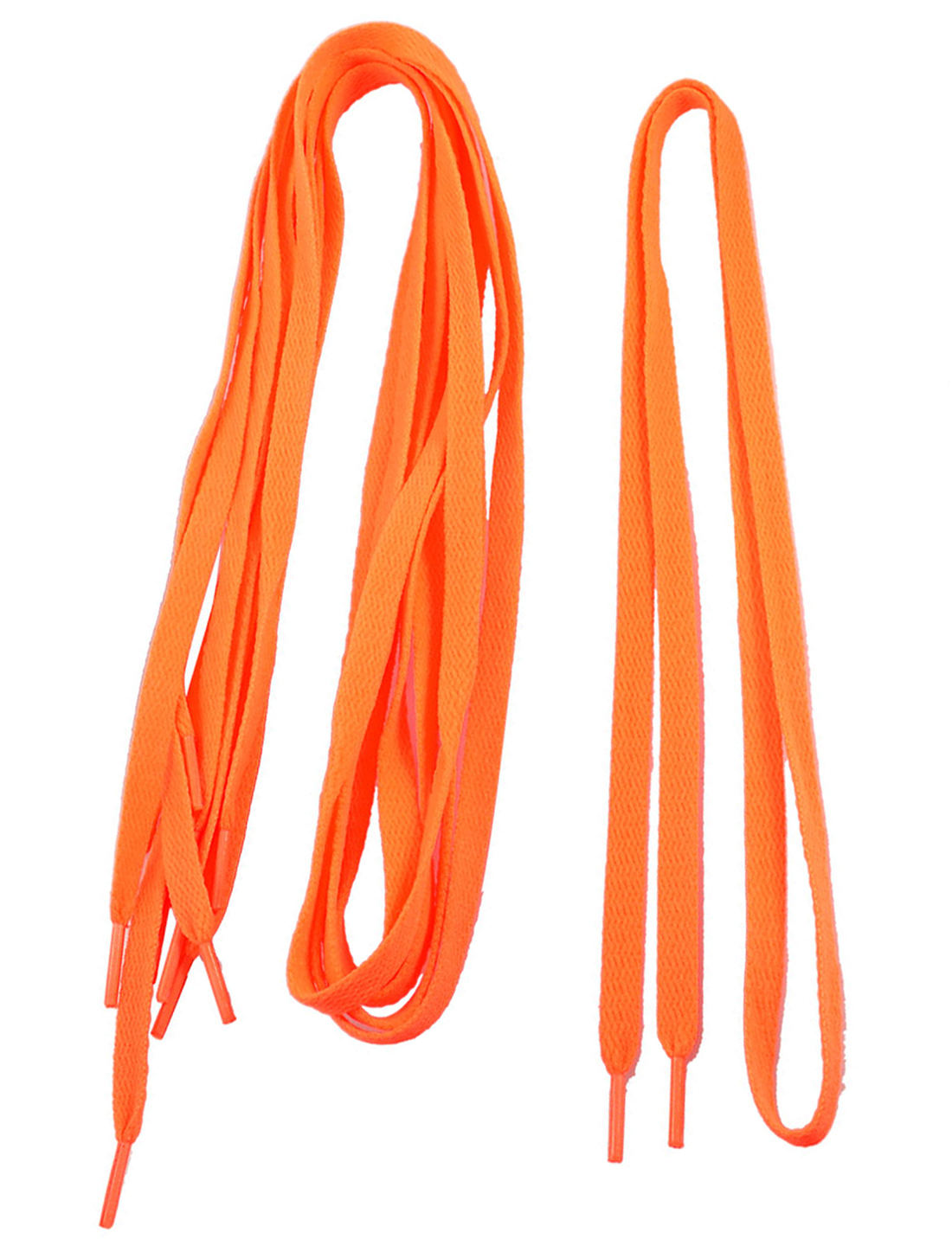 "Lady Plastic Tips 41.7"" Long Cord String Orange Flat Shoelaces 3 Pairs"