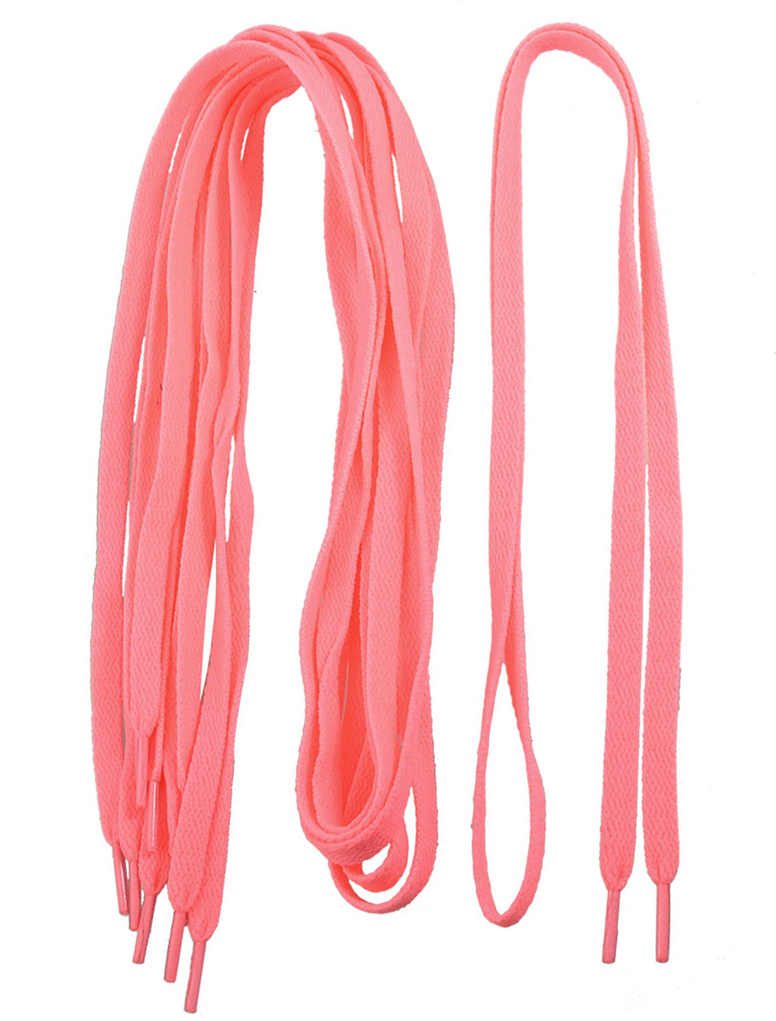 "41.7"" Long Peach Pink Flat Shoes String Shoelaces 3 Pairs for Lady"