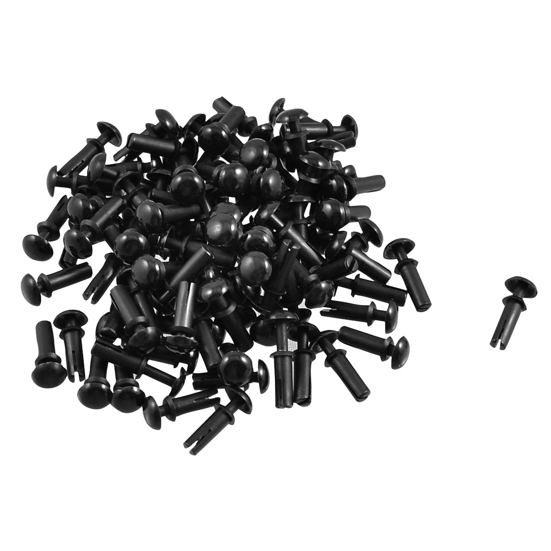 200 x Disassemble Nylon Push Rivets Fasteners for 5.1-6.0mm Thick Panel