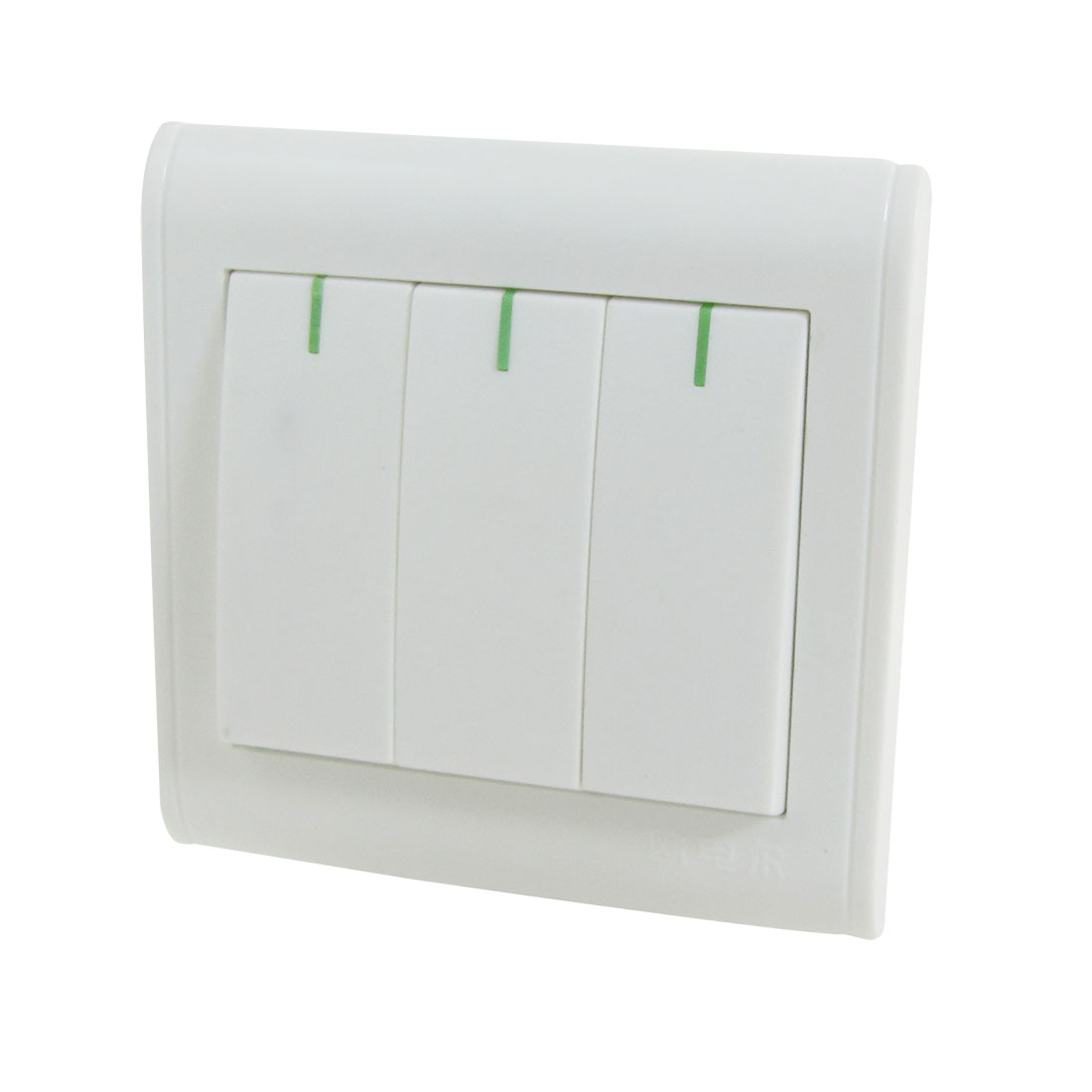 250V 10A Screw Terminal 3 Gang Home Wall Panel Switch