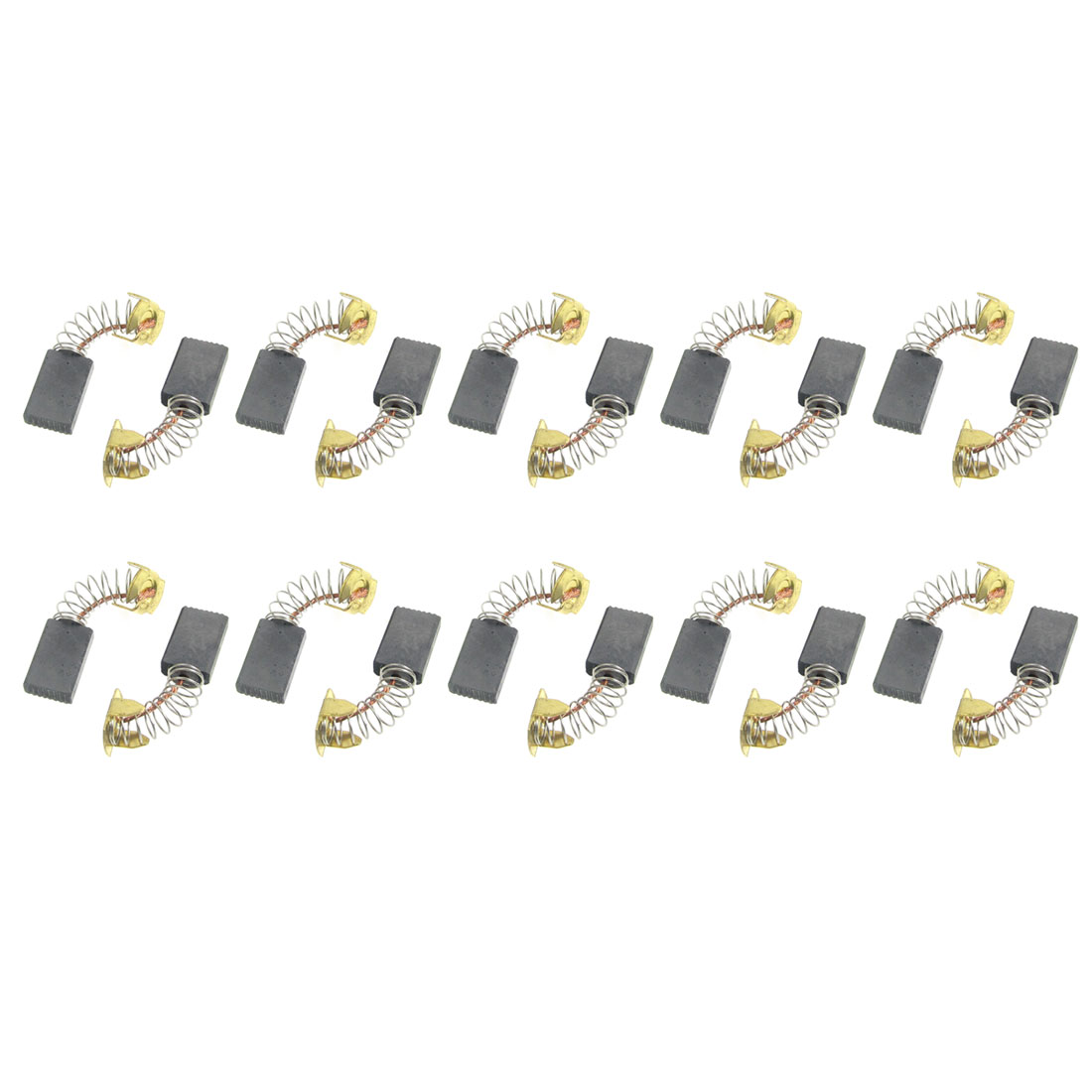 "10 Pcs Spring Type Electric Drill Motor Carbon Brushes 43/64"" x 13/32"" x 5/32"""