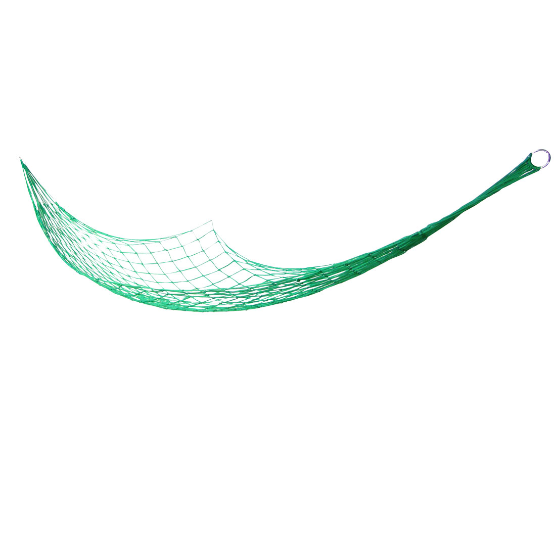 "Metal Ring 106.3"" Length Hammock Mesh Net Sleeping Bed Green"