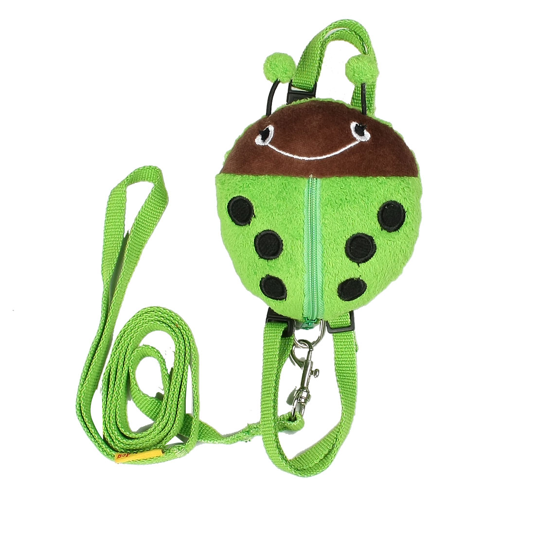 Travel Green Beetle Shape Zip UP Pet Dog Harness Leash Size M