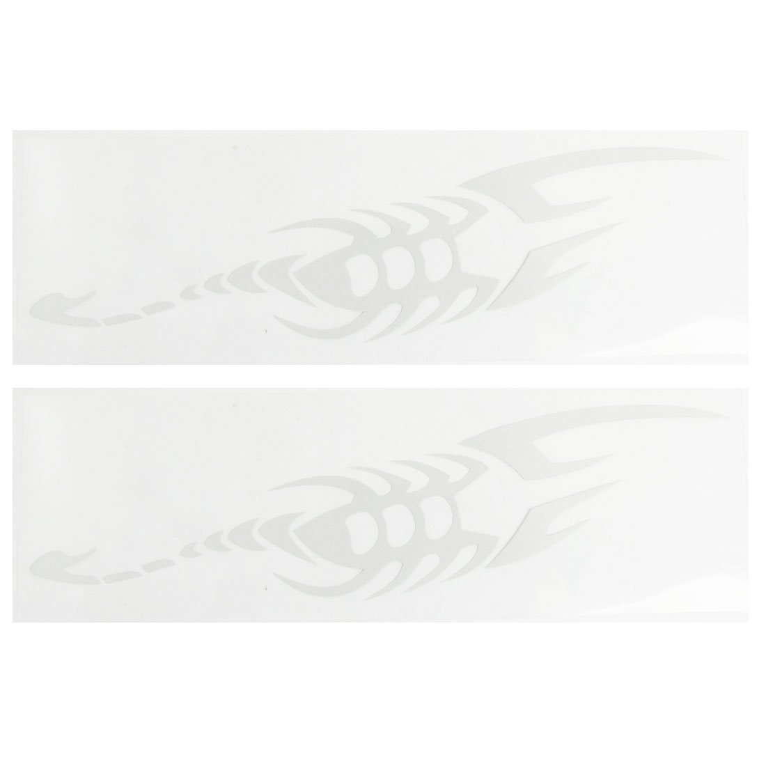 Auto Car 2 Pcs White Plastic Scorpion Shape Reflective Stickers