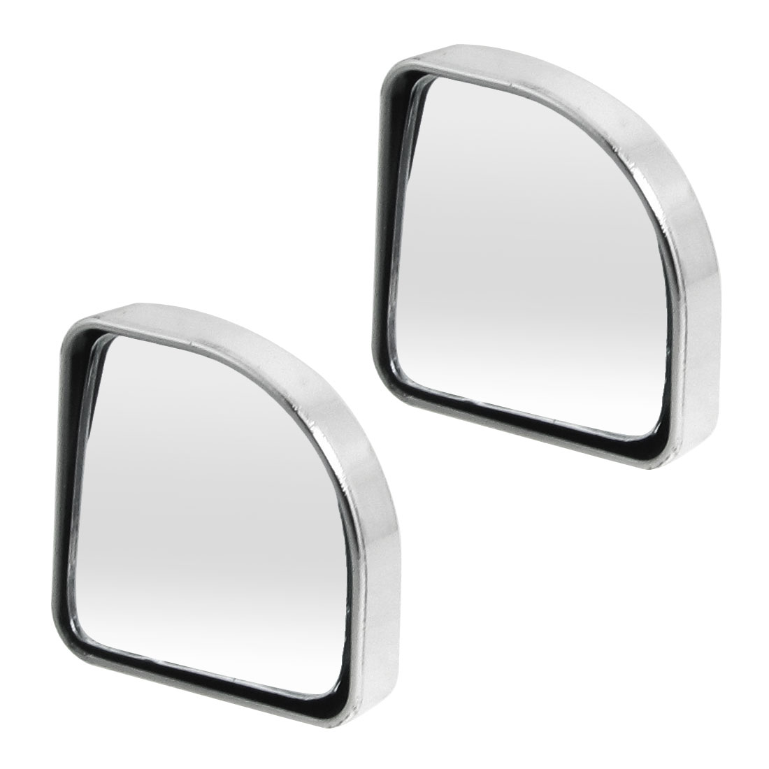 Car Self Adhesive Rear View Blind Spot Mirror Silver Tone 2 Pcs