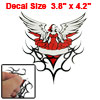 Red White Winged Lady Shaped Reflective Sticker for Auto
