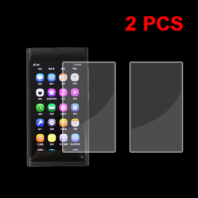 Pair Transparent Plastic LCD Screen Protector Film for Nokia N9