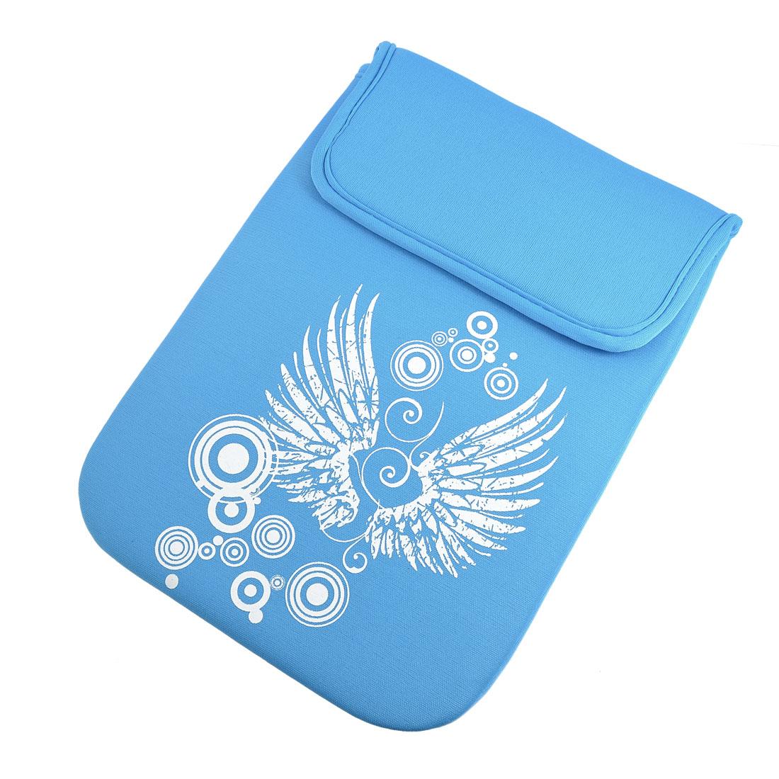 """10"""" 10.1"""" 10.2"""" Blue Art Wing Soft Neoprene Laptop Sleeve Bag Case"""